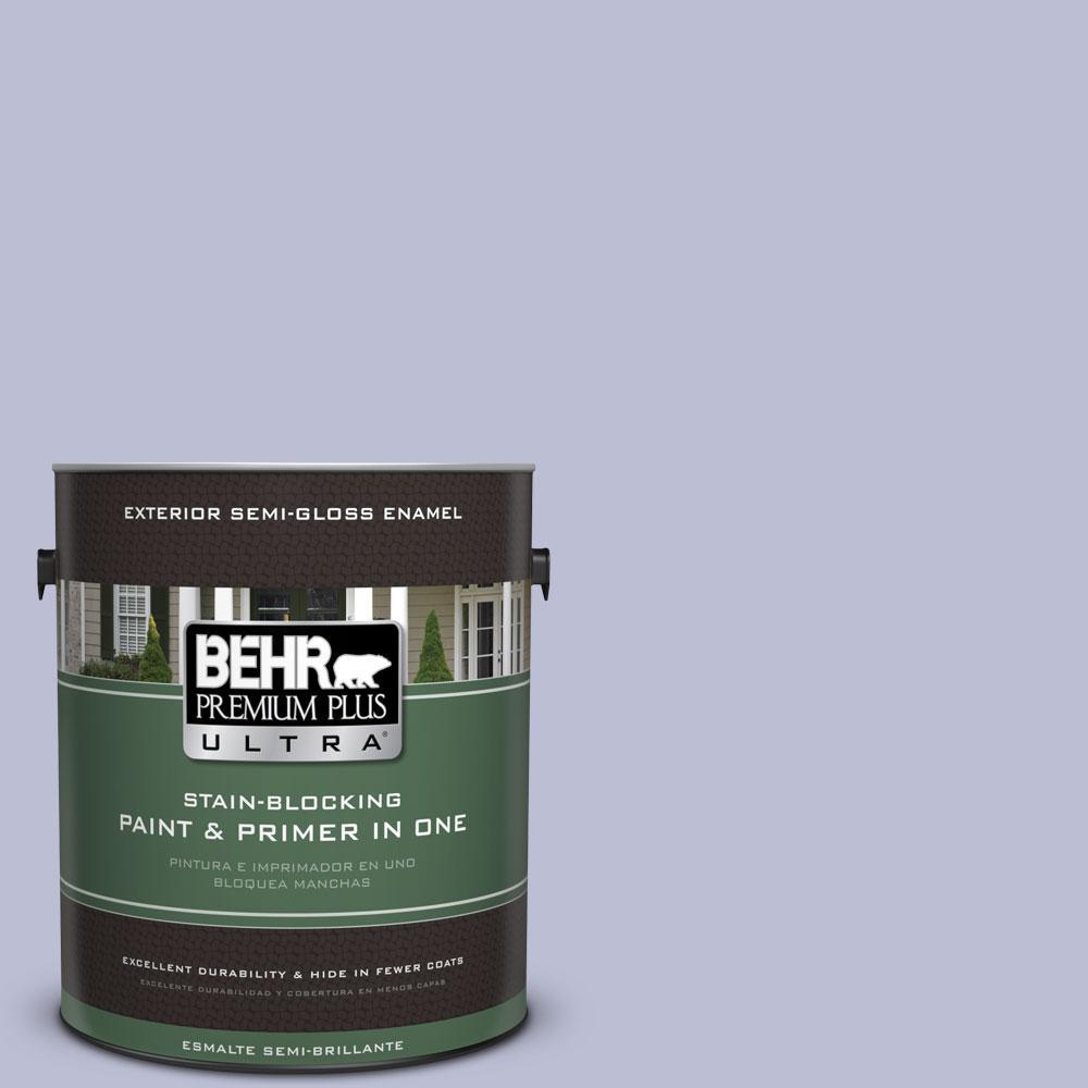 BEHR Premium Plus Ultra 1-gal. #PPU15-15 Sweet Juliet Semi-Gloss Enamel Exterior Paint