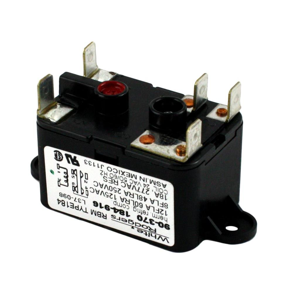 white rodgers 24 volt coil voltage spdt rbm type relay 90 370 the rh homedepot com White Rodgers RBM Funace Relay Wiring Diagram