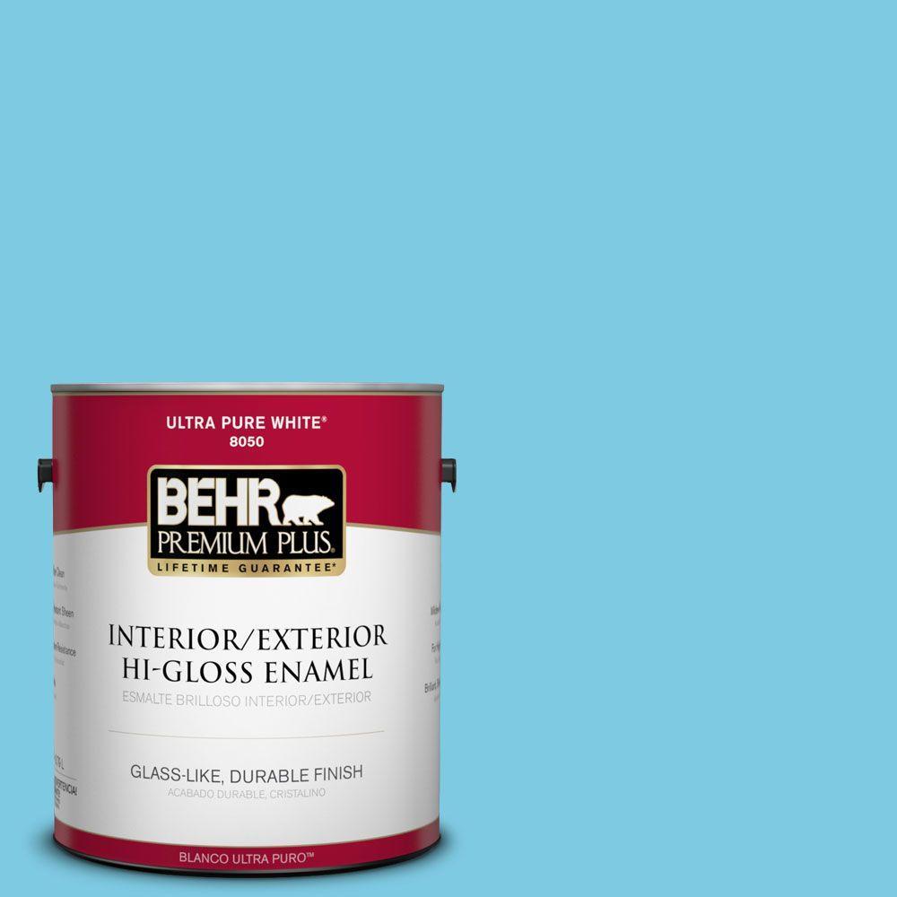 BEHR Premium Plus 1-gal. #P490-3 Big Chill Hi-Gloss Enamel Interior/Exterior Paint
