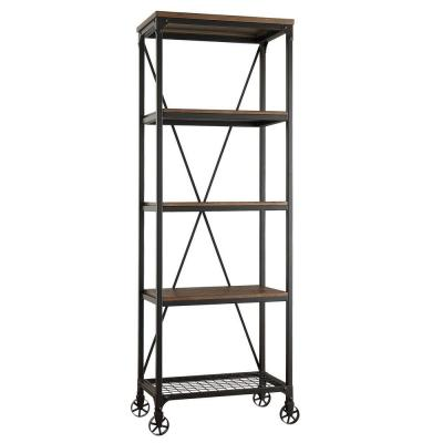 Cabella Distressed Ash Open Bookcase