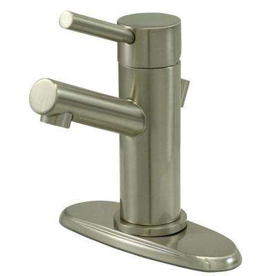 4 in. Centerset Single-Handle Bathroom Faucet High-Arc Bathroom Faucet in Satin Nickel