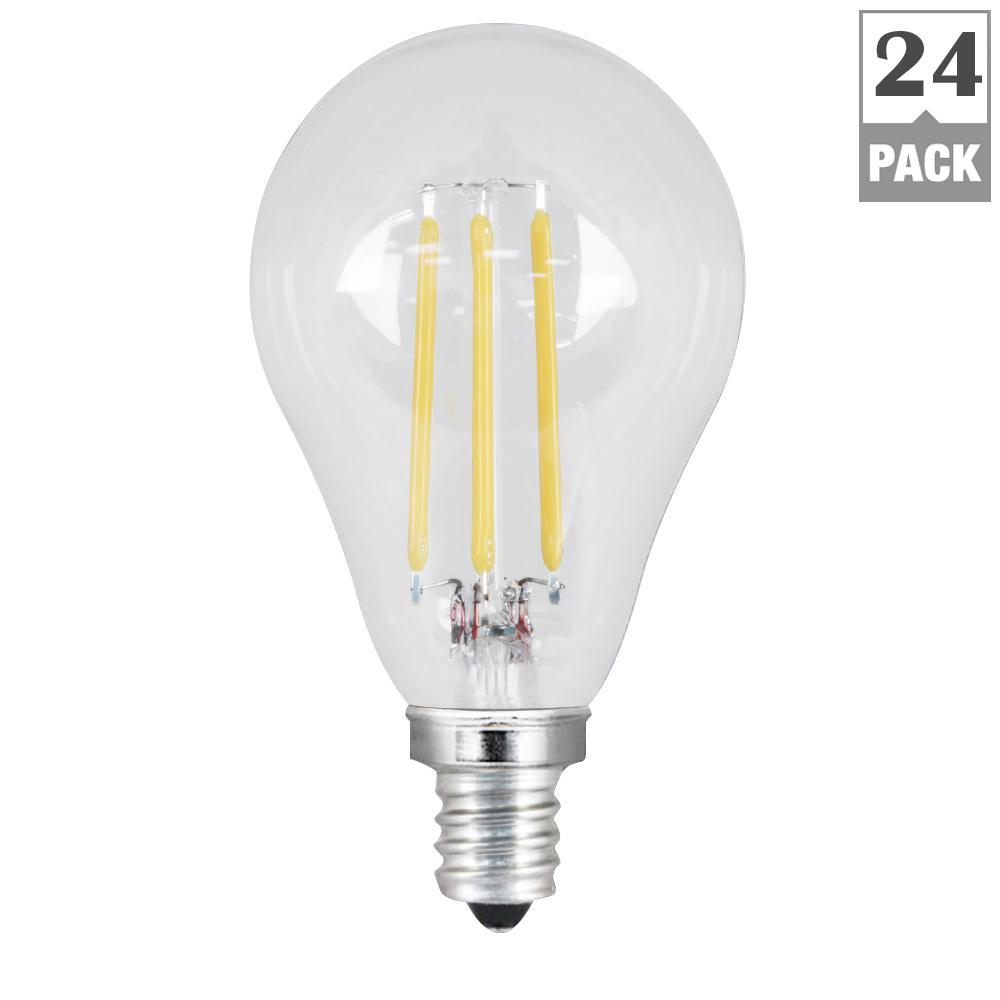 Feit Electric 40w Equivalent Daylight G25 Dimmable Clear: Feit Electric 60W Equivalent Daylight (5000K) A15