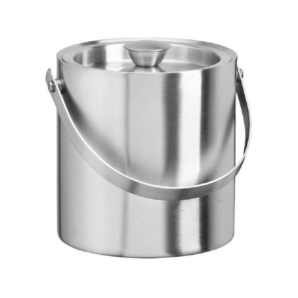 Kraftware 1.5 Qt. Insulated Ice Bucket in Brushed Stainless Steel 71487