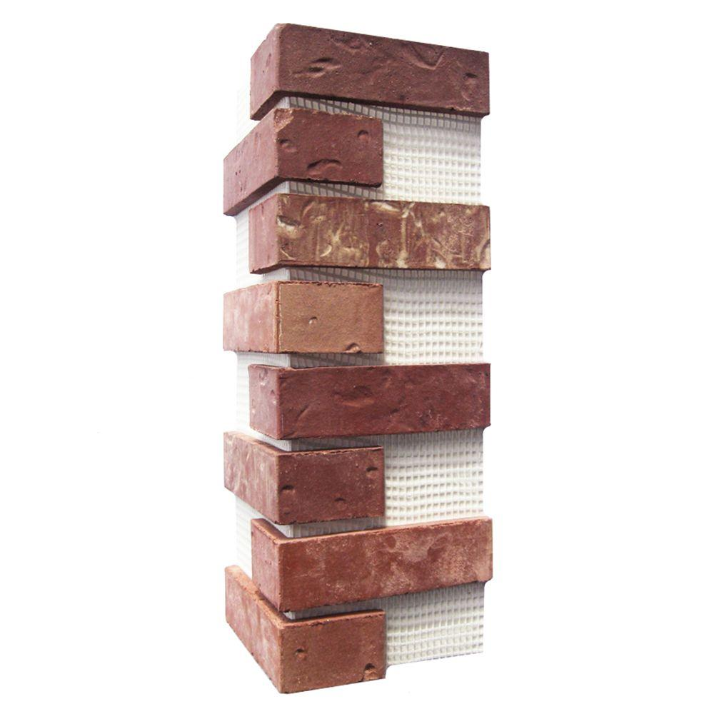 Old Mill Brick Brickwebb Independence Thin Brick Sheets - Corners (Box of 3 Sheets)  21 in x 15 in (5.3 linear ft.)