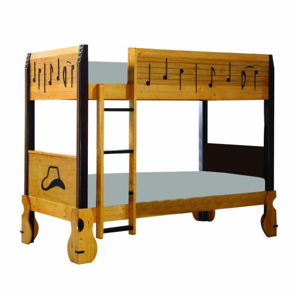 Amelia Oak Twin with Solid Wood Bed