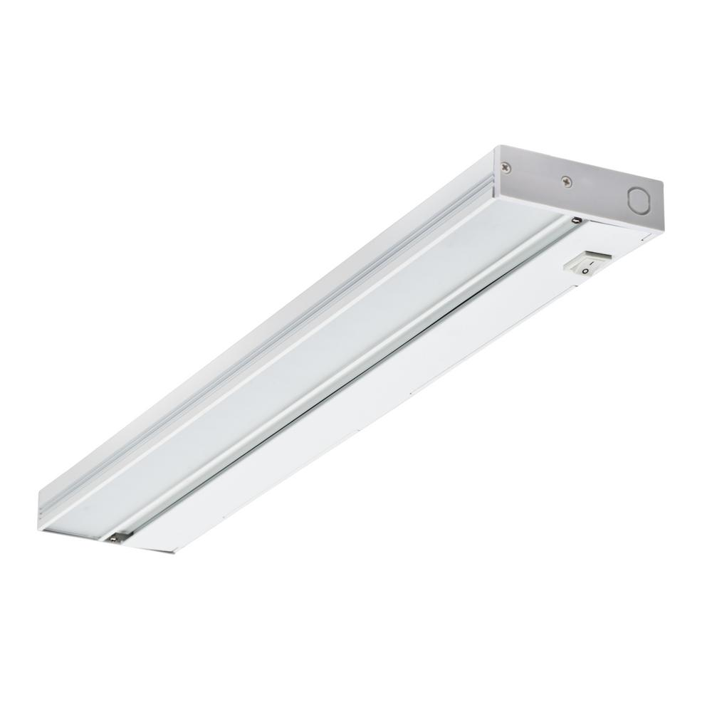 NUC 21 in. LED White Dimmable Under Cabinet Light for Hardwire