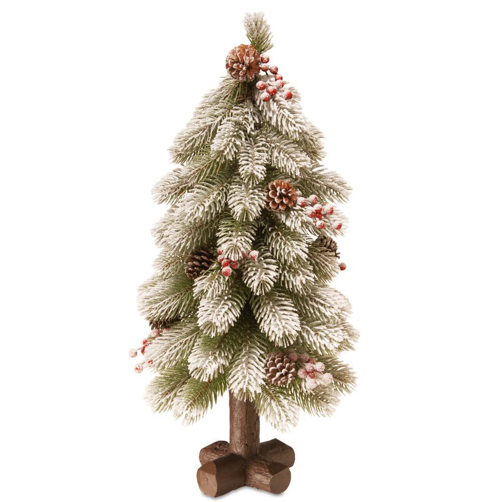 24 in. Feel-Real Snowy Bayberry Cedar Tree