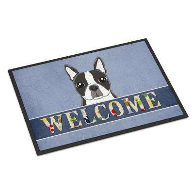 18 in. x 27 in. Indoor/Outdoor Boston Terrier Welcome Door Mat