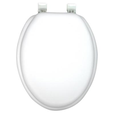 Ginsey Elongated Closed Front Soft Toilet Seat in White