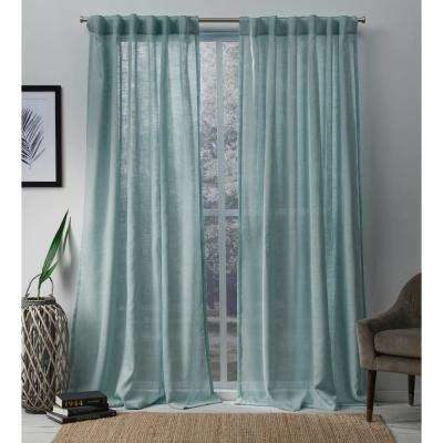 L Sheer Hidden Tab Top Curtain Panel