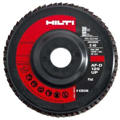 5 in. x 7/8 in. Grit 40 Type 27 Flap Disc Universal Premium Pack (10-Piece)