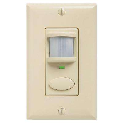 Decorator Passive Dual Technology Vacancy Motion Sensing Wall Switch - Ivory
