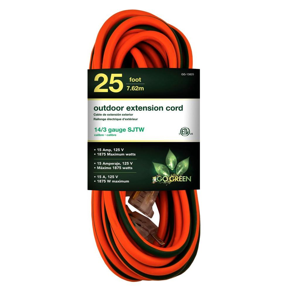 Green Extension Cord : Go green power ft sjtw outdoor extension cord