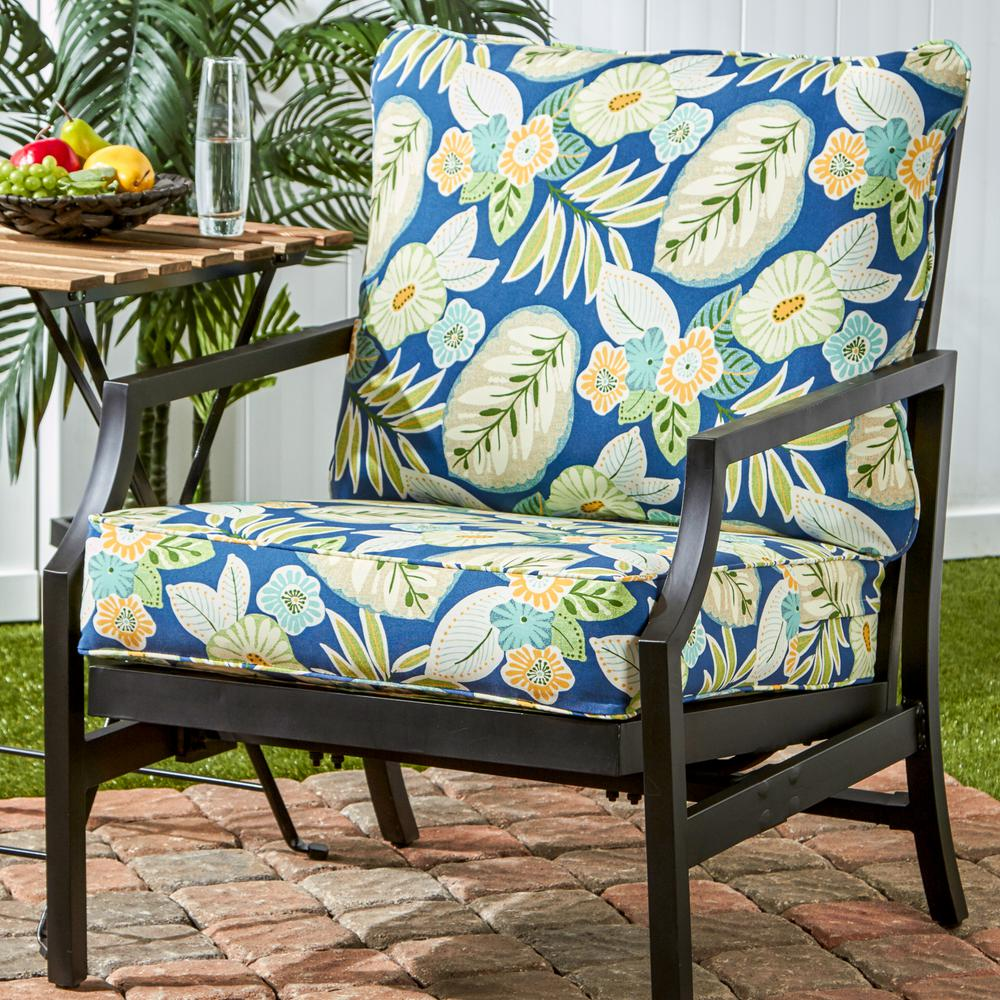 Incredible Greendale Home Fashions Marlow Floral 2 Piece Deep Seating Outdoor Lounge Chair Cushion Set Evergreenethics Interior Chair Design Evergreenethicsorg
