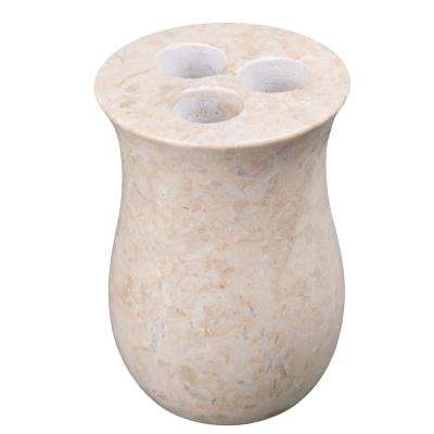 Vase Toothbrush Holder in Champagne Marble