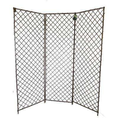 72 in. W x 72 in. H 3-Panels Willow Screen Divider