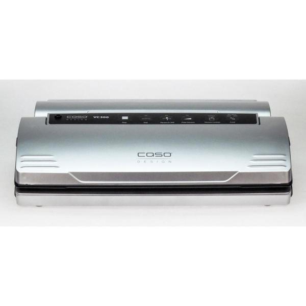 CASO VC 300 Brushed Black Stainless Steel Food Vacuum Sealer 11392