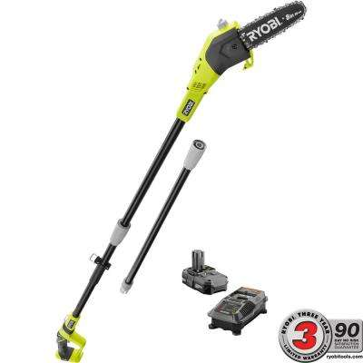 ONE+ 8 in. 18-Volt Lithium-Ion Cordless Pole Saw 1.3 Ah Battery and Charger Included