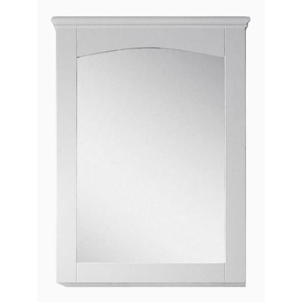 16-Gauge-Sinks 24 in. x 31.5 in. Single Framed Wall Mirror in Lacquer-Paint White