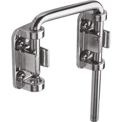 2 1/8 in., Steel, Nickel plated, Sliding Door Loop Lock