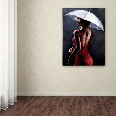 "47 in. x 35 in. ""Lady In Red"" by The Macneil Studio Printed Canvas Wall Art"
