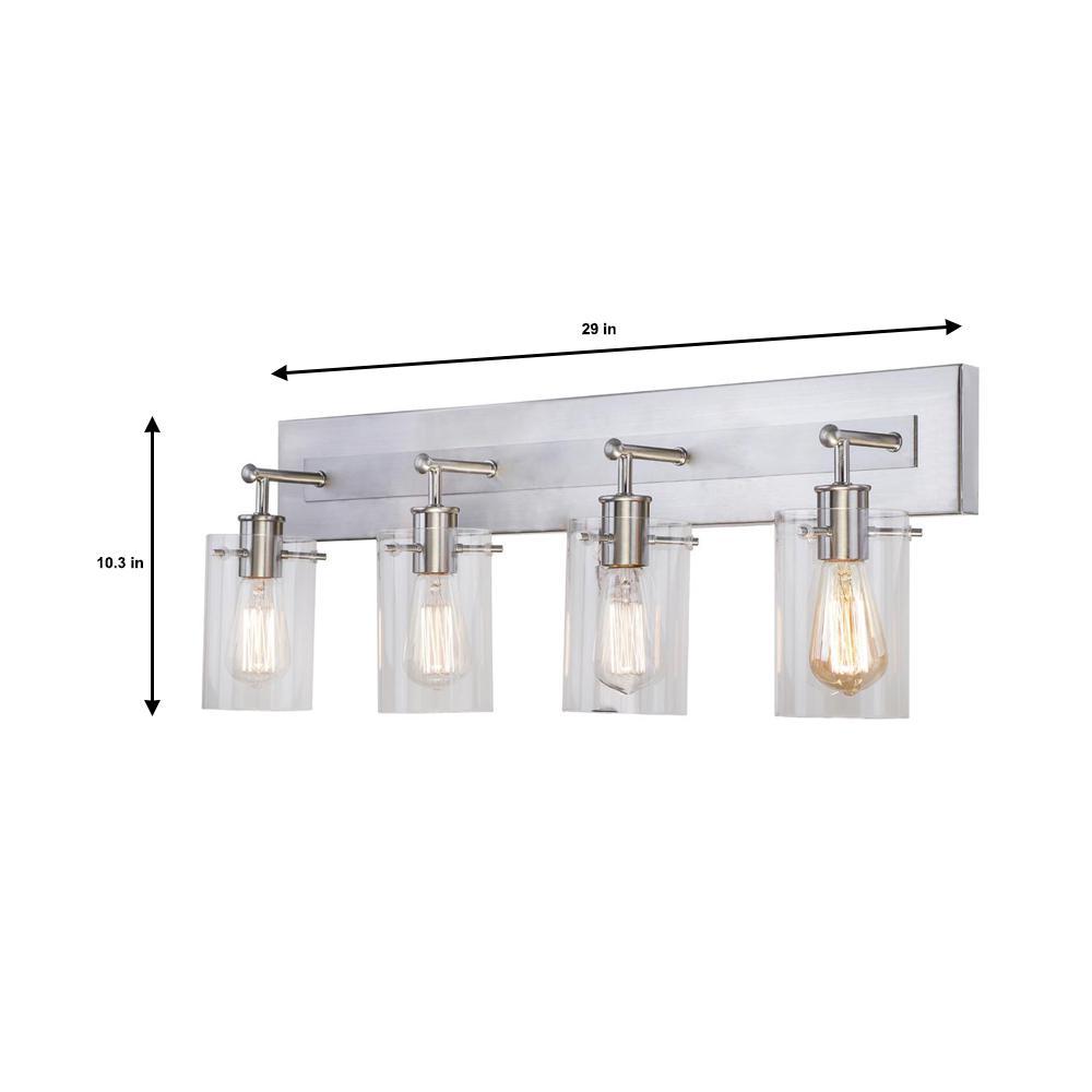 Hampton Bay Regan 29 13 In 4 Light, Vanity Bathroom Lights Fixtures