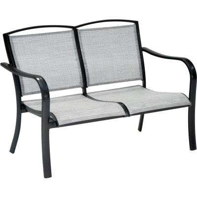 Foxhill All-Weather Commercial Rust-Free Aluminum Outdoor Loveseat with Sunbrella Sling Fabric