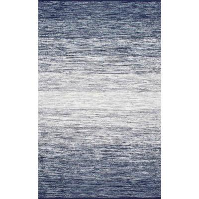 Cayla Ombre Blue 9 ft. x 12 ft. Area Rug