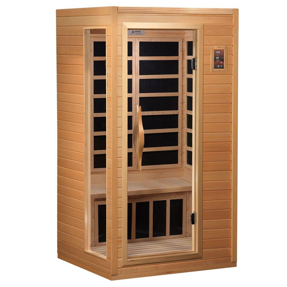 Better Life 2-Person Far Infrared Healthy Living Carbon Sauna with Chromotherapy, MP3 Stereo and 2 Speakers