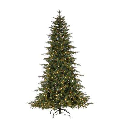 7.5 ft. Natural Cut Seville Pine Artificial Christmas Treewith 1300 Warm White LED Micro Lights