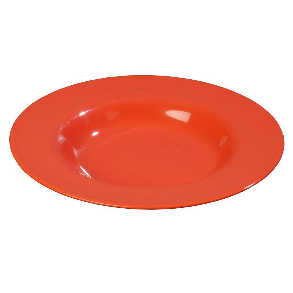 20 oz., 12.02 in. Diameter Melamine Chef Salad/Pasta/Soup Bowl in Sunset Orange (Case of 12))