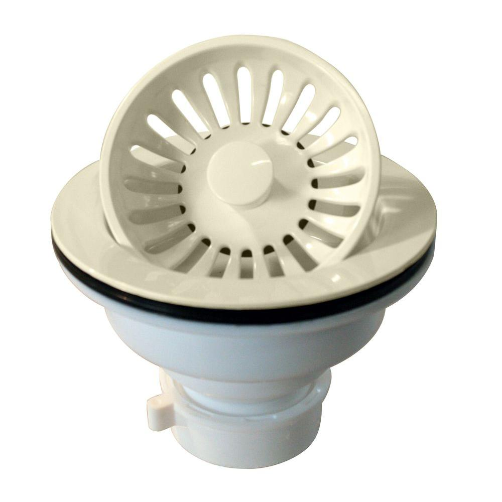 Westbrass 3-1/4 in. Push/Pull Basket Strainer in Biscuit