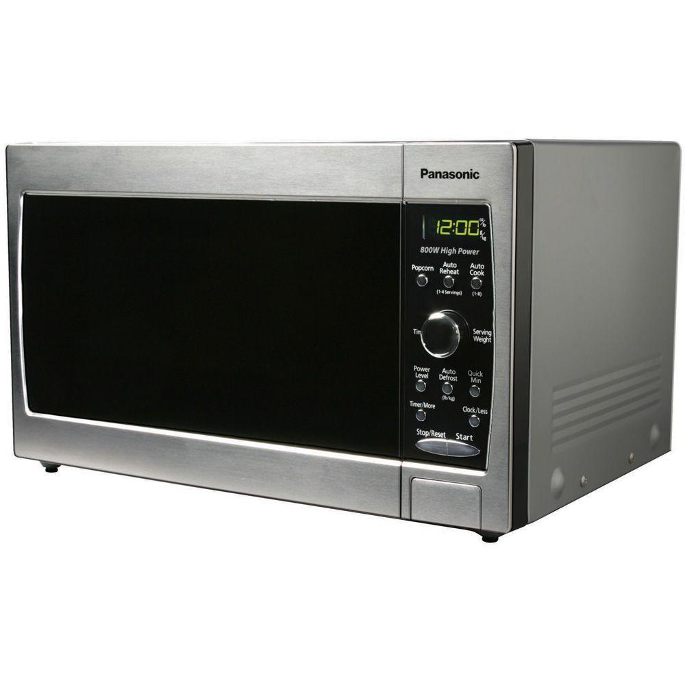 Panasonic Compact 0.8 cu. ft. 800W Microwave in Stainless Steel-DISCONTINUED