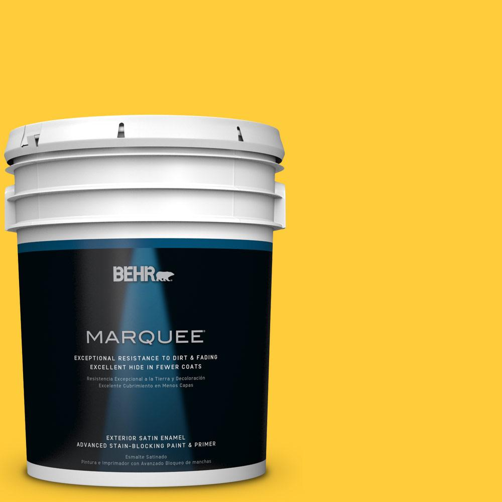 BEHR MARQUEE 5-gal. #S-G-360 Bright Star Satin Enamel Exterior Paint
