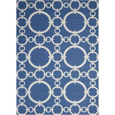 Connected Navy 10 ft. x 13 ft. Indoor/Outdoor Area Rug