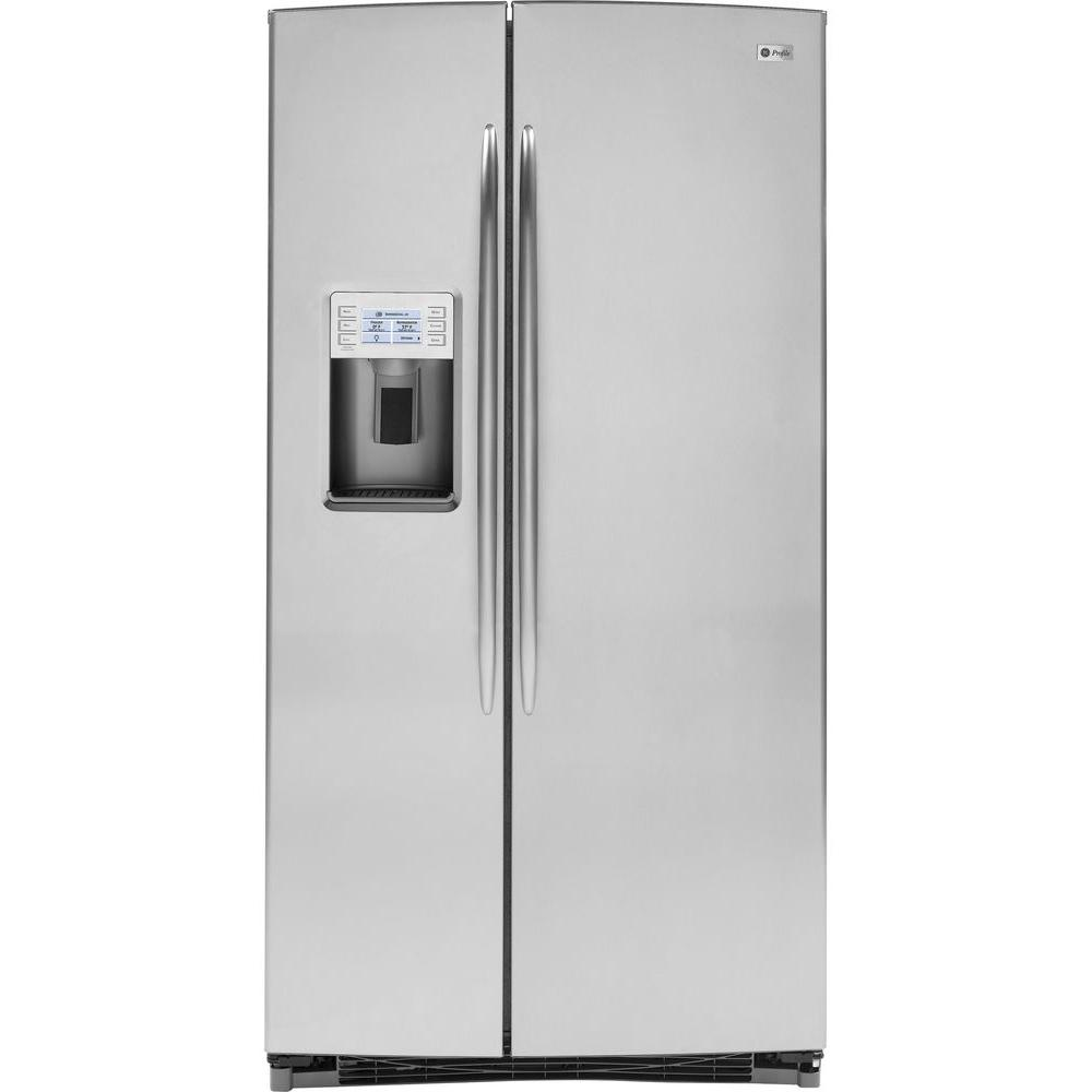 GE Profile 25.6 cu. ft. Side by Side Refrigerator in Stainless Steel