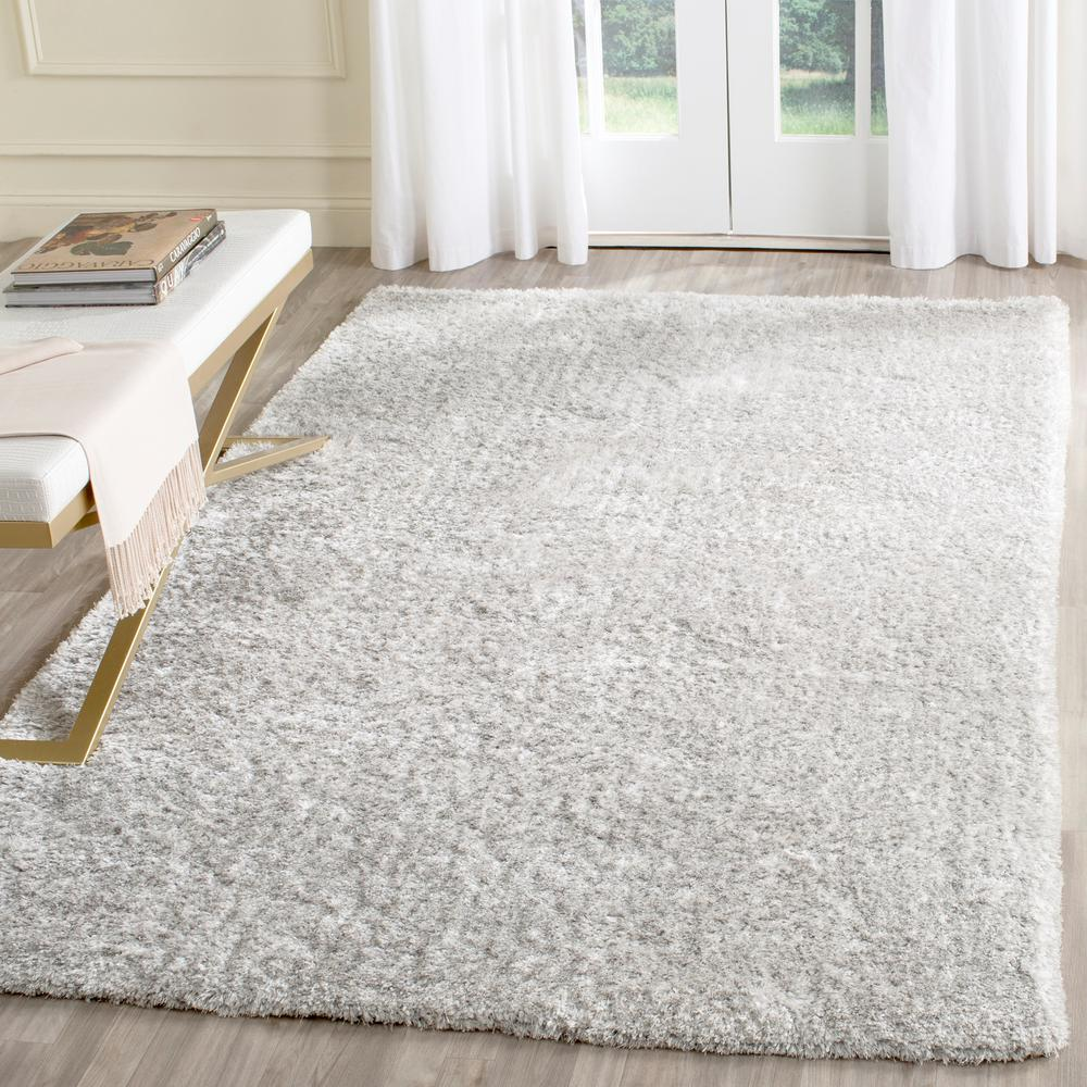 Safavieh Toronto Shag Light Gray 8 Ft X 10 Ft Area Rug
