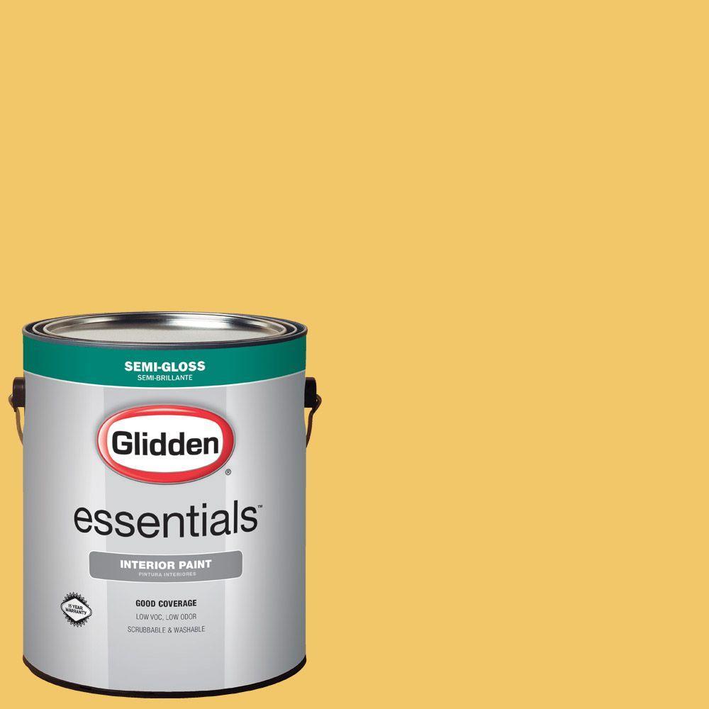 1 gal. #HDGY40 Sunshower Semi-Gloss Interior Paint