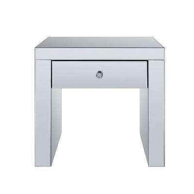 Noland Mirrored and Faux Diamonds End Table