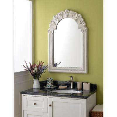 Parliament Rectangular Distressed White Dresser Wall Mirror