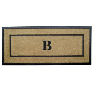 Nedia Home DirtBuster Single Picture Frame Black 24 inch x 57 inch Coir with... by Nedia Home