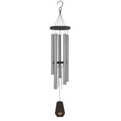 Precision-Tuned Echo 40 in. Aluminum and Steel Double Wind Chime - Pewter