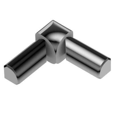 Rondec Polished Chrome Anodized Aluminum 3/8 in. x 1 in. Metal 90 Degree Double-Leg Inside Corner