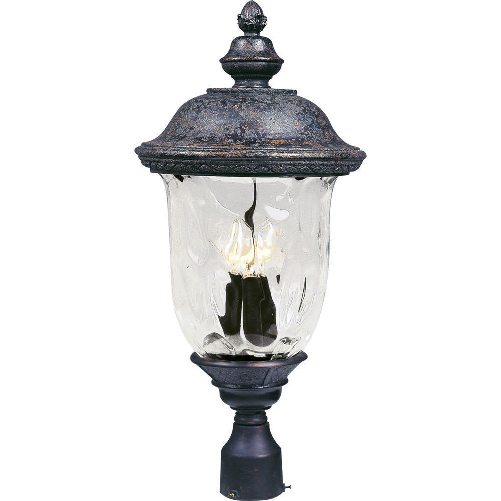 Maxim Lighting Carriage House VX 3-Light Oriental Bronze Outdoor Pole/Post Mount