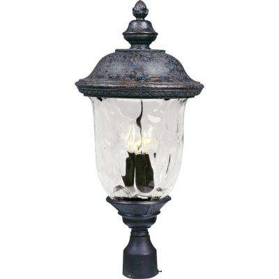 Carriage House VX 3-Light Oriental Bronze Outdoor Pole/Post Mount