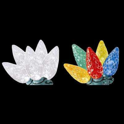 100-Light C6 LED Faceted Color-Changing Warm White to Multi-Color Lights