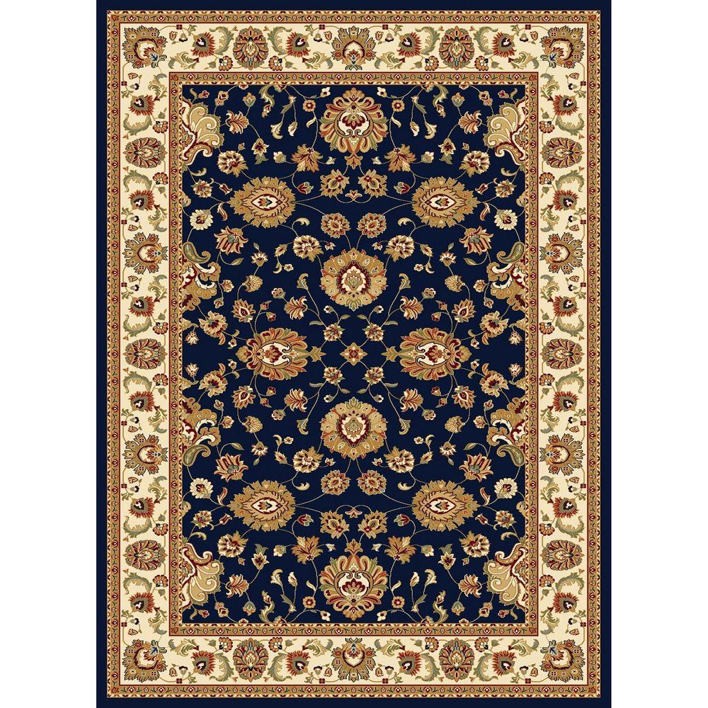 Concord Global Trading Williamsburg Collection Sultan Navy 7 ft. 10 in. x 10 ft. 10 in. Area Rug