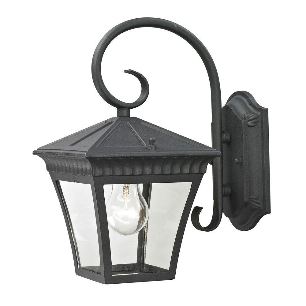 Ridgewood 1-Light Outdoor Matte Textured Black Sconce