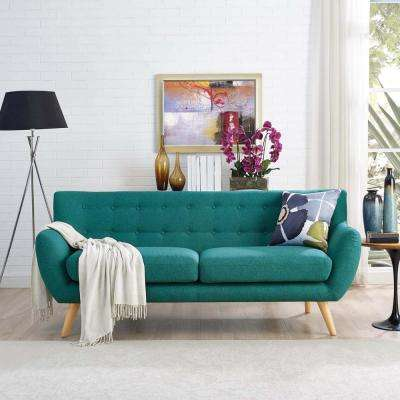 Remark Teal Upholstered Fabric Sofa