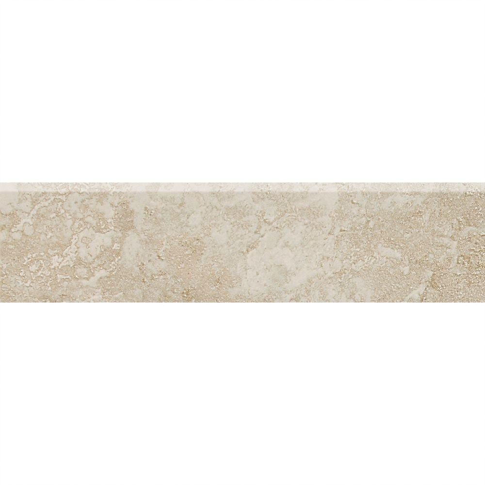 Sandalo Serene White 3 in. x 12 in. Ceramic Bullnose Wall